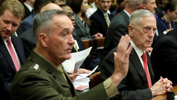 Ministar odbrane SAD Džejms Matis na saslušanju odbora za oružane snage Predstavničkog doma američkog Kongresa - Sputnik Srbija