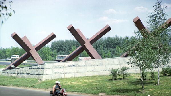 Spomenik Protivtenkovski ježevi u čast branilaca Moskve - Sputnik Srbija