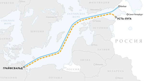 Мапа гасовода Северни ток и  Северни ток 2 - Sputnik Србија