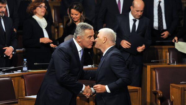 Milo Đukanović i premijer Crne Gore Duško Marokvić - Sputnik Srbija