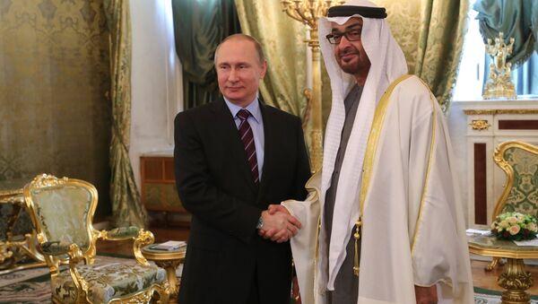 Састанак председника Русије Владимира Путина и наследног принца од Абу Дабија Мухамеда ел Нахајана - Sputnik Србија