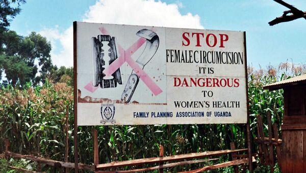 Bilbord kampanje protiv sakaćenja ženskih genitalija. - Sputnik Srbija
