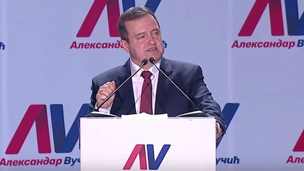Ивица Дачић на митингу СНС-а - Sputnik Србија