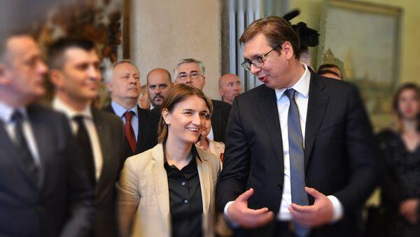 Ana Brnabić i Alkesandar Vučić - Sputnik Srbija