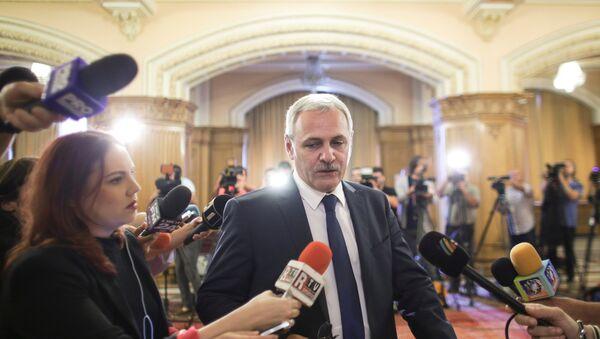Lider Socijaldemokratske partije Liviu Dragnea u rumunskom parlamentu, u Bukureštu - Sputnik Srbija