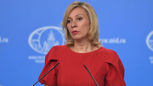 Portparolka Ministarstva spoljnih poslova Rusije Marija Zaharova tokom brifinga u Moskvi - Sputnik Srbija
