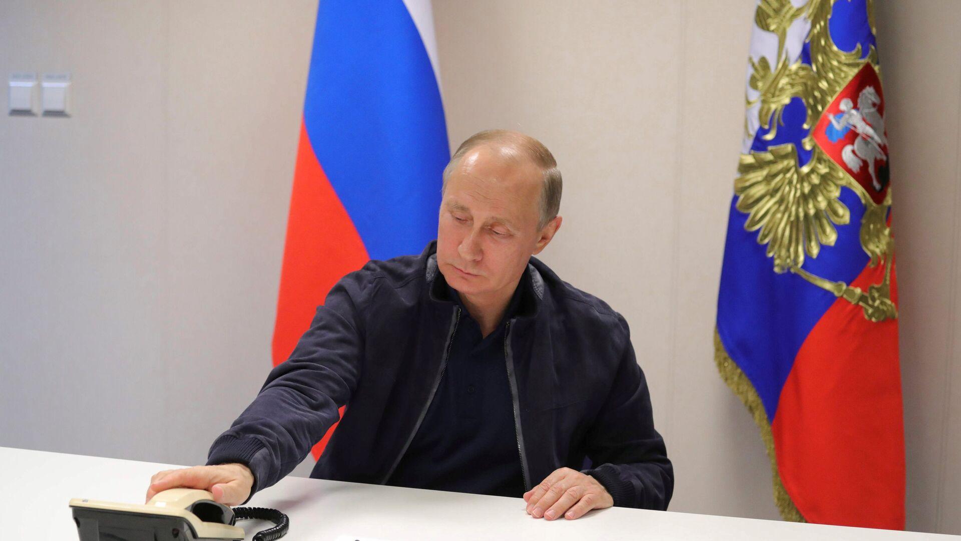 Председник Русије Владимир Путин након разговора са председником Турске Реџепом Тајипом Ердоганом  - Sputnik Србија, 1920, 21.07.2021