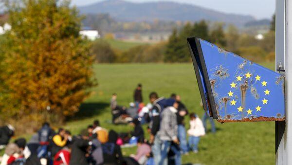 Izbeglice na granici između Austrije i Nemačke - Sputnik Srbija