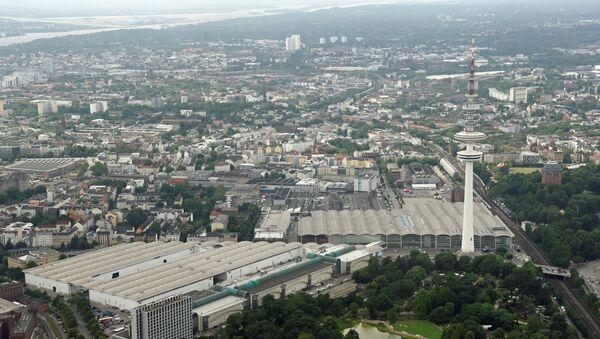 Pogled na mesto održavanja samita G20 u Hamburgu - Sputnik Srbija