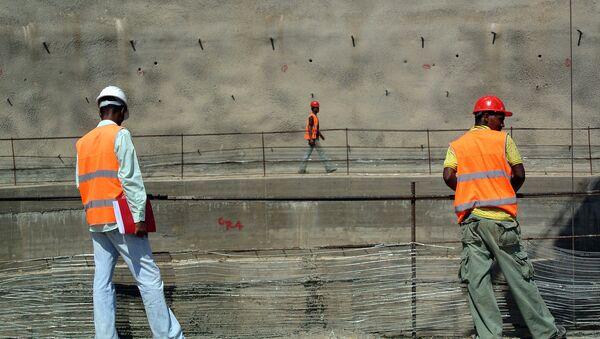 Radnici na izgradnji brane u etiopijskoj Omo dolini - Sputnik Srbija