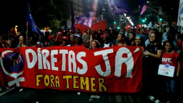 SERBIA_Akcii protesta protiv prezidenta Brazilii Mišela Temera - Sputnik Srbija