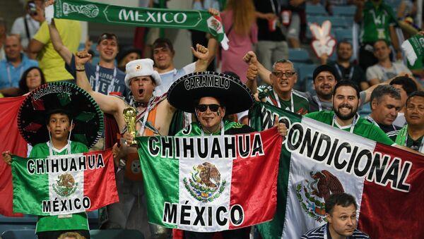 Мексички навијачи на утакмици полуфинала Купа конфедерација 2017. између Немачке и Мексика - Sputnik Србија