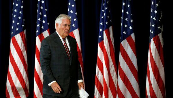 Američki državni sekretar Reks Tilerson na konferenciji za medije u Vašingtonu - Sputnik Srbija