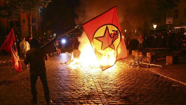 Ситуација у Хамбургу, где су у току протести против самита Г20 - Sputnik Србија