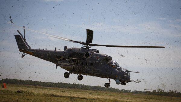 Mi 35M helicopters on training flights in Krasnodar Territory - Sputnik Србија