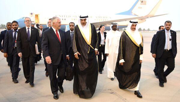 Reks Tilerson i ministar spoljnih poslova Kuvajta šeikom Sabahom al Halidom al Sabahom - Sputnik Srbija