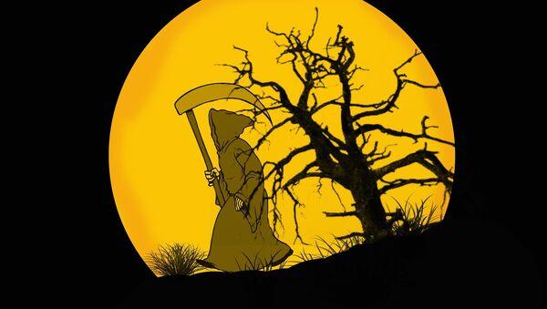 Смрт, куга, илустрација. - Sputnik Србија