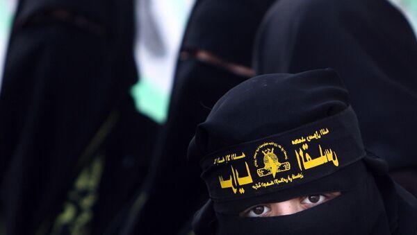 Pripadnice radikalne islamističke grupe u Pojasu Gaze - Sputnik Srbija