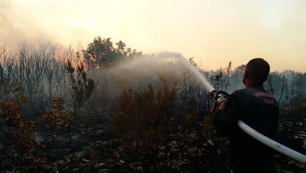 Гашење пожара у околини Тивта - Sputnik Србија