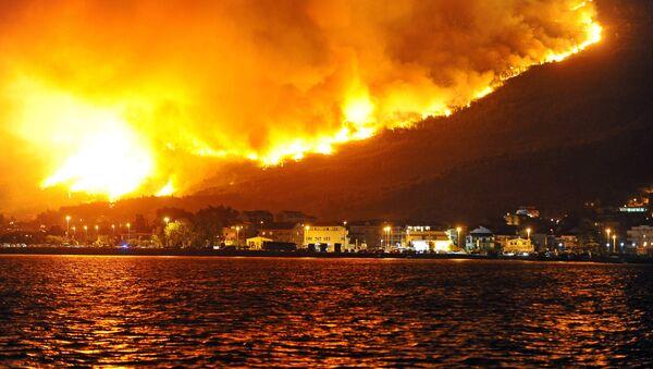 Пожар близу Сплита, Хрватска - Sputnik Србија