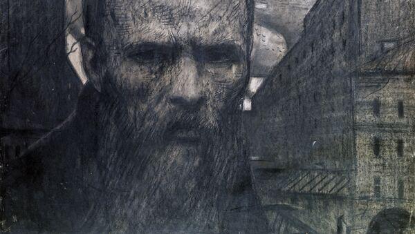 Tvorac fantastičnog realizma, reprodukcija I. S. Glazunova Dostojevski - Sputnik Srbija