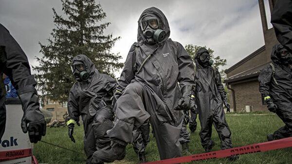 Војници хемијско-биолошке јединице Оружаних снага САД - Sputnik Србија