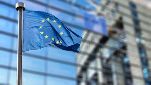 Zastava Evropske unije ispred zgrade Evropskog parlamenta u Briselu - Sputnik Srbija