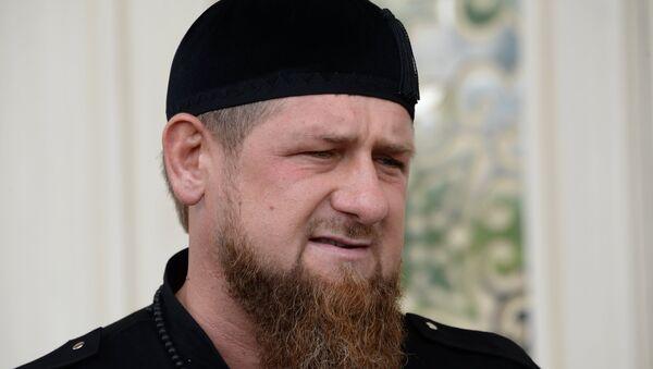 Лидер Чеченије Рамзан Кадиров на конференцији за медије у Грозном - Sputnik Србија