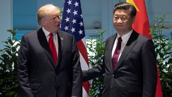 Predsednici SAD i Kine Donald Tramp i Si Đinping na samitu G20 u Hamburgu - Sputnik Srbija