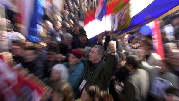 Hrvatska, zastava, protest - Sputnik Srbija