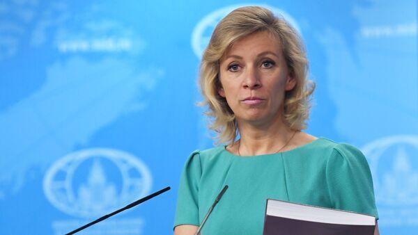 Portparol Ministarstva spoljnih poslova Rusije Marija Zaharova tokom redovnog brifinga - Sputnik Srbija