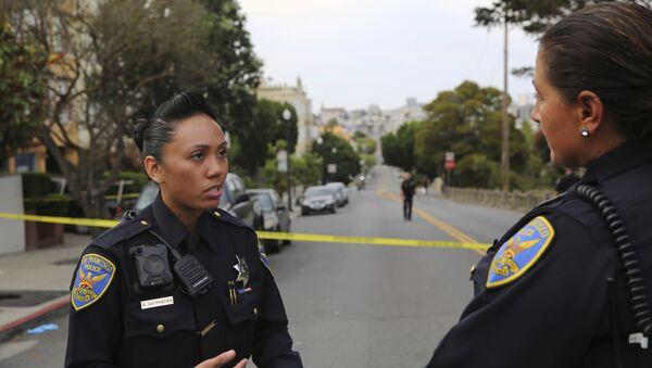 Policija na mestu zločina u San Francisku, SAD - Sputnik Srbija