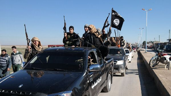 Borci terorističke grupe DAEŠ u severnoj Siriji - Sputnik Srbija