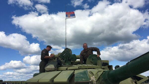 Српска посада на тенковском биатлону - Sputnik Србија