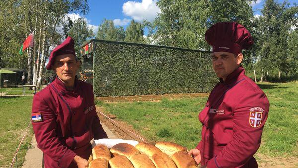 Pekari Vojske Srbije na takmičenju Poljska kuhinja u okviru Međunarodnih vojnih igara u Rusiji. - Sputnik Srbija