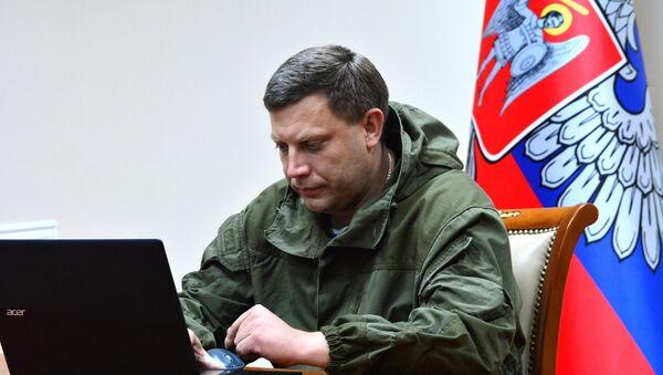 Лидер Доњецке Народне Републике Александар Захарченко - Sputnik Србија