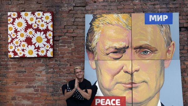 Нацртани ликови Владимира Путина и Доналда Трампа. - Sputnik Србија