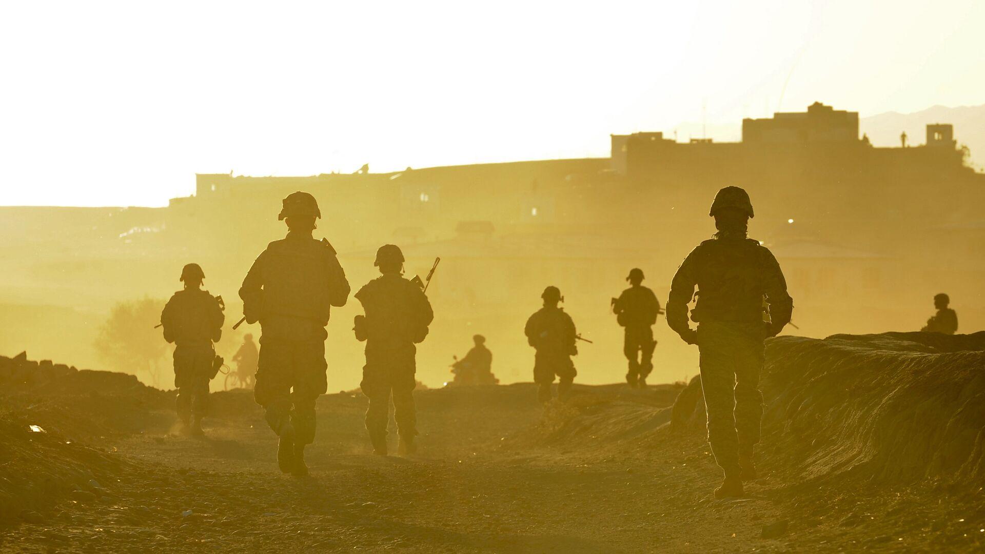 Vojnici tima Zabul vraćaju se u bazu nakon patrole u avganistanskom gradu Kalat - Sputnik Srbija, 1920, 01.10.2021