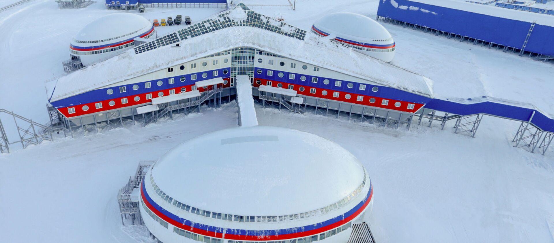 Руска војна база Арктички троугао на острву Александрина земља архипелага Земља Франца Јозефа - Sputnik Србија, 1920, 07.01.2021