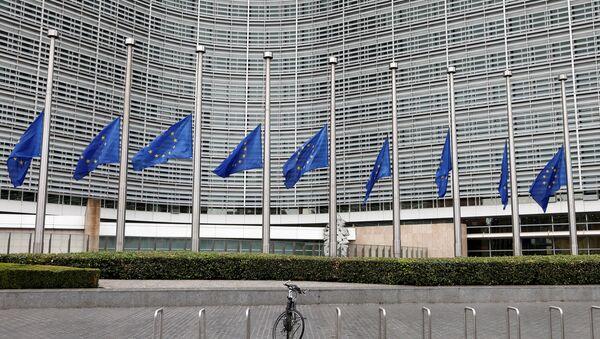Zastave EU na pola koplja - Sputnik Srbija