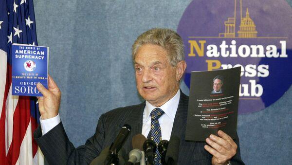 Џорџ Сорош на промоцији своје књиге у Вашингтону 2004. - Sputnik Србија