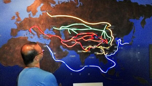 Prikaz Puta svile u muzeju u Landžou, provincija Gansu - Sputnik Srbija