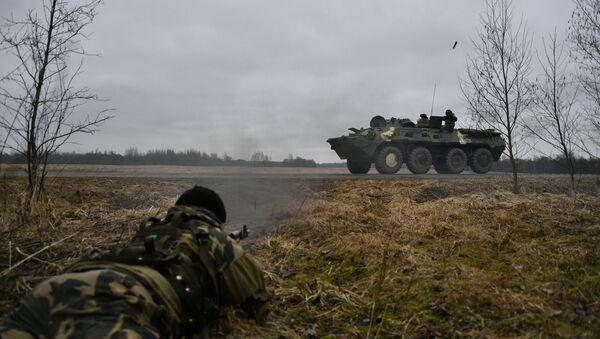 Učesnici zajedničkih vojnih vežbi taktičkih grupa u Belorusiji - Sputnik Srbija