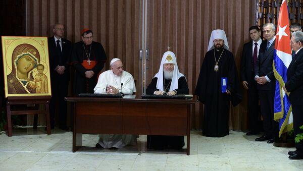 Partijarh Kiril i papa Franja - Sputnik Srbija