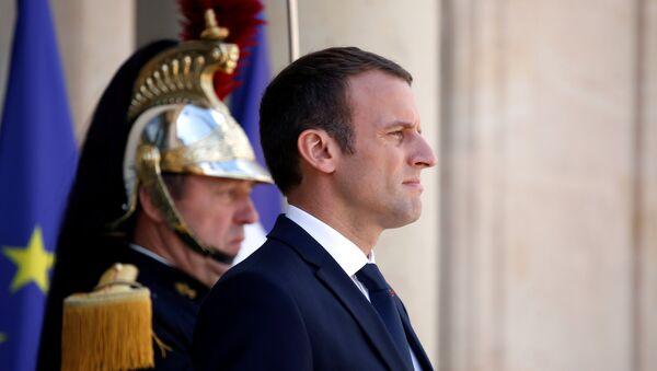 Председник Француске Емануел Макрон у Јелисејској палати у Паризу - Sputnik Србија