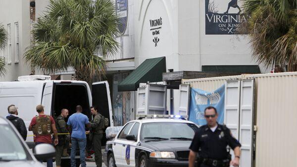 Policija na mestu pucnjave u Čarlstonu u američkoj državi Južna Karolina - Sputnik Srbija