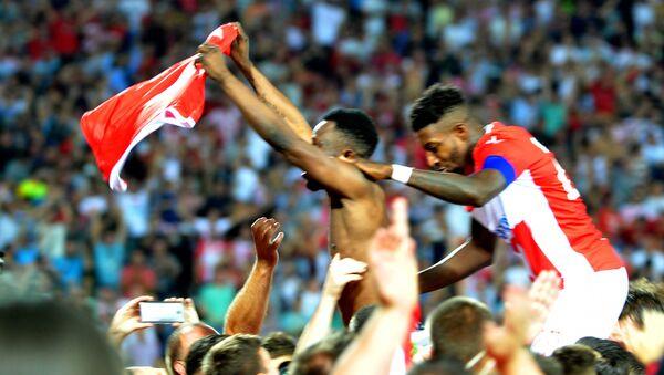 Fudbaleri Crvene zvezde slave pogodak protiv ruskog Krasnodara u revanš meču za plasman u Ligu Evrope - Sputnik Srbija