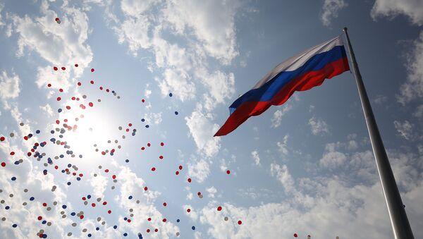 Podizanje zastave na proslavi Dana Nacionalne zastave Ruske Federacije u Krasnodaru. - Sputnik Srbija