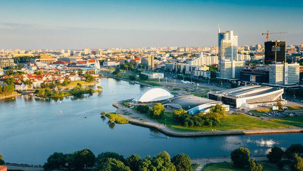 Панорама Минска, престонице Белорусије - Sputnik Србија
