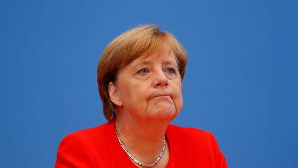 Немачка канцеларка Ангела Меркел на конференцији за медије у Берлину - Sputnik Србија